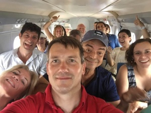Group Selfie. Crazy AvGeeks from the other angle. Courtesy Adam Twidell